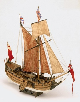 Сборная деревянная модель корабля Yacht Mary - фото 2
