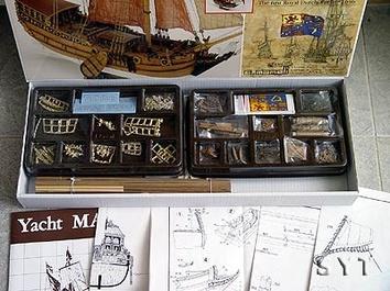 Сборная деревянная модель корабля Yacht Mary - фото 4