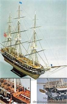 Сборная деревянная модель корабля Конститьюшн - фото 11