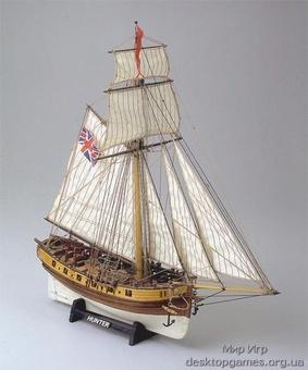 Модель корабля из дерева Хантер (Hunter)
