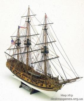 Модель корабля из дерева Rattle Snake