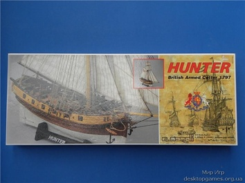 Модель корабля из дерева Хантер (Hunter) - фото 2