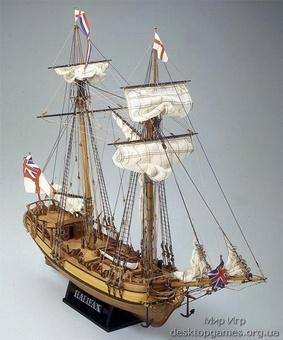 Сборная модель корабля из дерева Halifax (Галифакс)