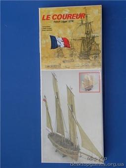 Модель корабля из дерева Люгер (Le Coureur) - фото 2