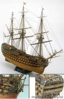 Сборная деревянная модель корабля Royal Louis - фото 2