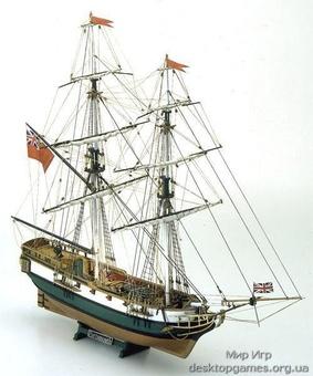 Масштабная модель корабля из дерева Портсмут (Portsmouth)