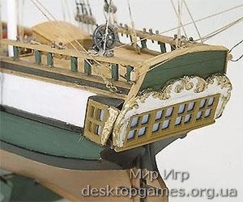 Масштабная модель корабля из дерева Портсмут (Portsmouth) - фото 2