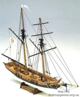 Модель деревянного корабля Блэк Принс (Black Prince)