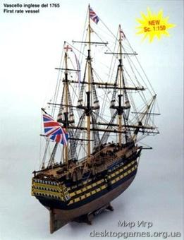 Сборная деревянная модель корабля HMS Victory