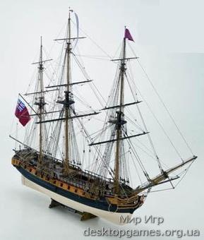 Сборная деревянная модель британского фрегата Сюрпрайз (H.M.S. Surprise)