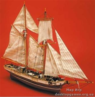 Масштабная модель деревянного парусника Ла Росе (La Rose)