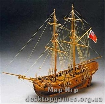 Деревянная модель корабля Шайн (Shine)