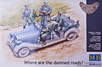 Where are the damned roads? (Немецкий автомобиль тип 170V и 5 фигурок немецких солдат)