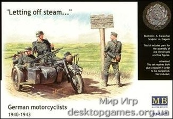 MB3539 WWII German motorcyclists, 1940-1943