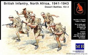 British Infantry, North Africa, 1941-1943. Desert Battles. Kit 2