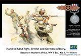 Фигурки солдат британской и немецкой пехоты в рукопашном бою