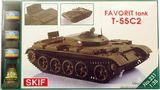 MKset231 T-55C-2  Favorit  Czech driver training tank (танк)