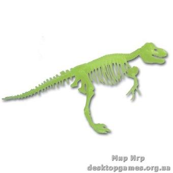 Светящийся скелет динозавра Тираннозавр
