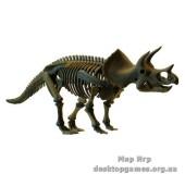Большая модель скелета Трицератопса