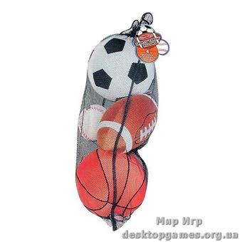 Набор спортивных плюшевых мячиков