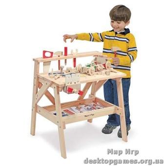 Деревянный столярный детский стол
