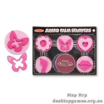 Розовый набор штампов