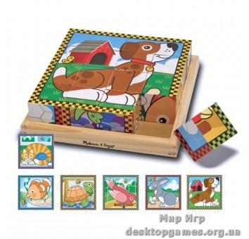 Домашние животные-кубики