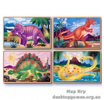 """Пазл 4в1 """"Динозавры"""""""