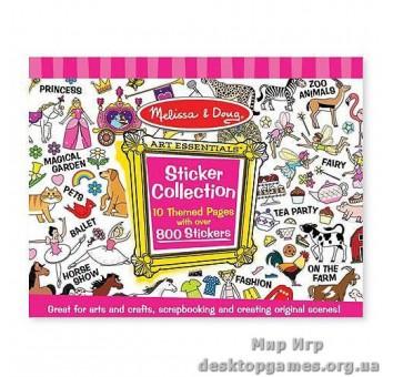 Розовый набор стикеров (800 шт.)