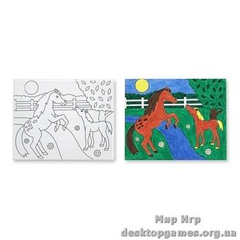 Рисунок на холсте Лошадка