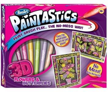 "3-D раскраска ""Цветы и бабочки"""