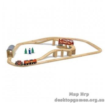 Деревянный набор Железная дорога