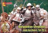 Burgundian sergeants and archers, XIV-XV century