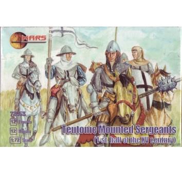 Тевтонские сержанты верхом, 1 половина XV века