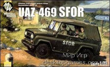 MW3507 UAZ-469 SFOR/KFOR Soviet army car