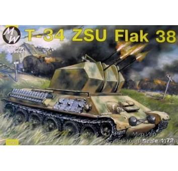MW7213 T-34 with ZSU Flak 38