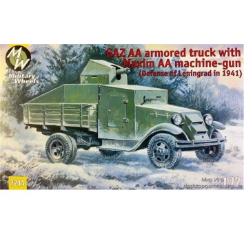 MW7244 GAZ AA armored truck with Maxim AA gun