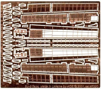 Набор фототравления для Су-2 Flaps (для модели от ICM)