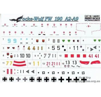 Декаль для истребителя FW 190А2-А9