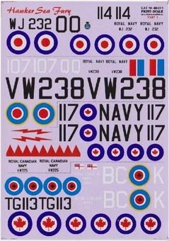 Hawker SeaFury, Part 1 (3 sheets)