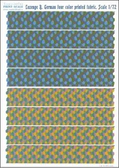 Lozenge B. German four color printed fabric.