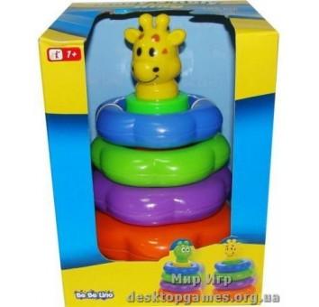 Детская игрушка-пирамидка. Жираф