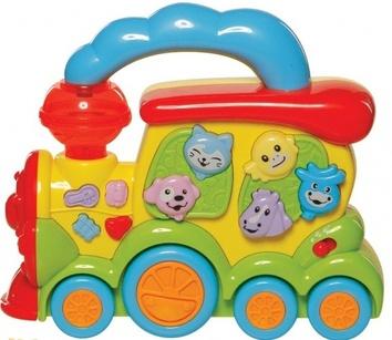 """Детская игрушка """"Музыкальный поезд-Животные"""""""