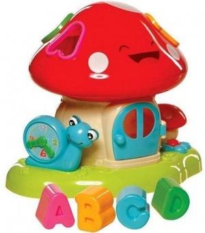 """Детская игрушка-сортер """"Музыкальный домик-Гриб"""""""