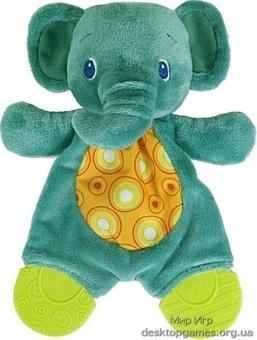 """Плюшевые игрушки-прорезыватели """"Мягкие друзья"""" Bright Starts, слон"""