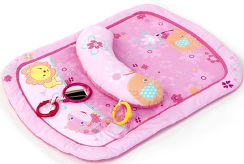 Коврик для выкладывания на животик «Маленькие цветы» розовый