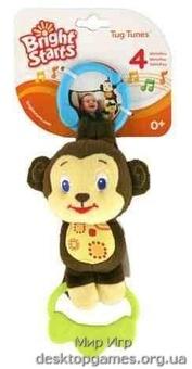 Подвесная музыкальная игрушка Обезьянка Bright Starts, обезьянка