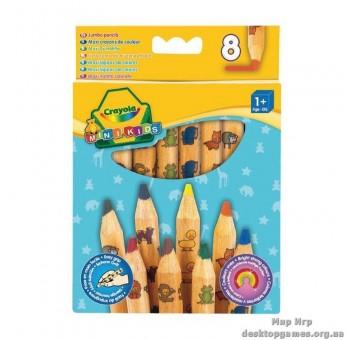 8 цветных карандашей из  красного дерева, 1+
