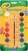 14 баночек краски - темпера