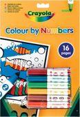 Книга-раскраска по номерам с фломастерами